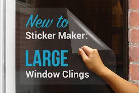 new to sticker maker large window clings stickeryou