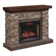 grand canyon 28 in stacked stone infrared electric fireplace