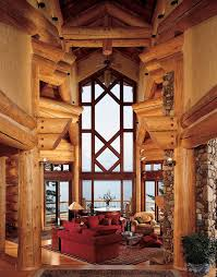 Best Beautiful Rustic  Log Homes Images On Pinterest Log - Log home interior designs