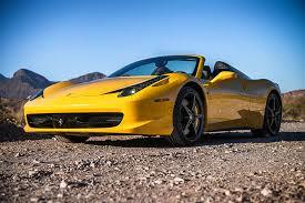 458 rental las vegas rent a 2015 458 italia convertible yellow in las vegas