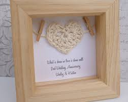2nd wedding anniversary gift awesome cotton wedding anniversary gift gallery styles ideas