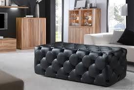 Black Tufted Ottoman Leather Ottomans In Stock In Modern Miami Furniture Store