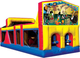 thanksgiving inflatables outdoor work off all that good food thanksgiving themed obstacle combos