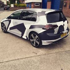 camo wrapped cars vehicle wrapping in manchester u0026 cheshire u2014 golf r wrapped in