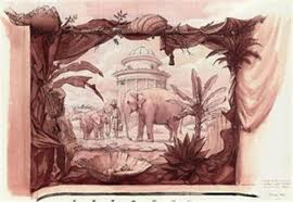 the elephant grotto sketch for mural another 2 works by graham