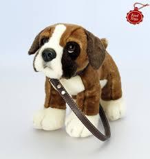 boxer dog vine keel toys 27cm standing boxer dog on a lead amazon co uk toys