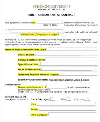 10 artist contract templates free sample example format