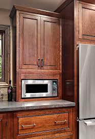 tall microwave cabinet cherry kitchen home design ideas and