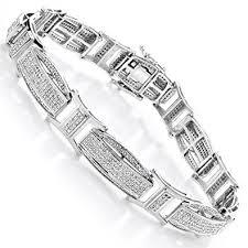 bracelet diamond men images Luxurman diamond bracelets 10k men natural 2 4 ctw jpg