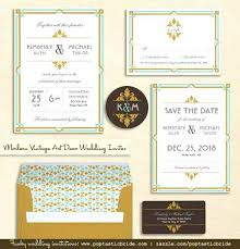 art deco wedding invitations and cheap art deco wedding