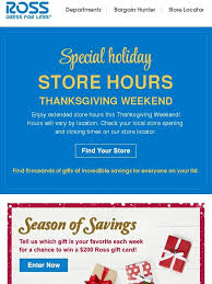 ross thanksgiving weekend hours 200 gift card giveaway milled