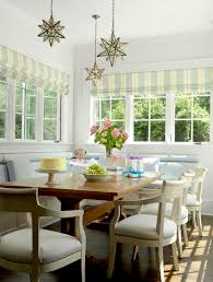 Dining Room Banquette Ideas by Kitchen Cheerful Red Striped Fabric And Indian Decor Kitchen