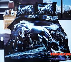 Wolf Bedding Set Blue Wolf Bedroom 3d Blue Wolf Bedding Comforter Set