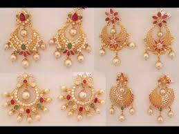 chandbali earrings top 30 pearl chandbali earrings designs in gold