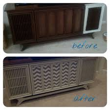 Record Player Cabinet Plans by Retro Stereo Cabinet Repurposed In Sea Blue U0026 Off White Before