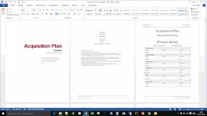 acquisition plan template acquisition plan template ms word excel
