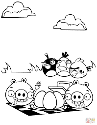 minion pig stealing easter eggs coloring page free printable