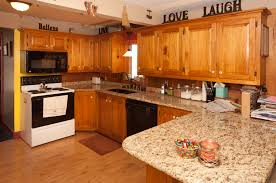 kitchen trendy oak kitchen cabinets with granite countertops
