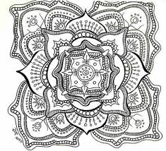 mandala flower coloring pages difficult just colorings