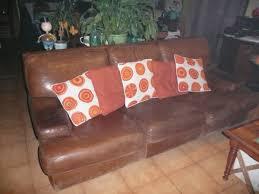 don canapé recyclage objet récupe objet donne canape cuir 2 fauteuils à