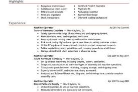 Production Operator Resume Sample by Forklift Operator Resume Big Machine Operator Example