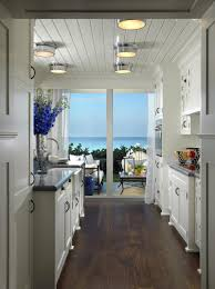 Beach House Kitchens by White Coastal View Kitchen With A Beachy Feel Love The Clad