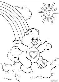 coloring care bears happy rainbow coloring