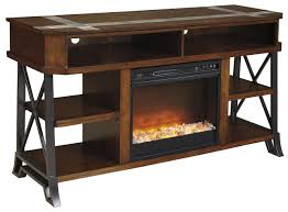 signature design by ashley vinasville tv stand with fireplace