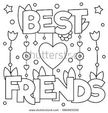 friends coloring vector illustration stock vector