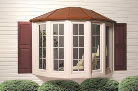 exterior white horizontal siding and bay windows lowes for home