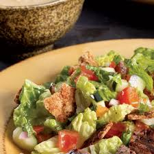 lebanese fattoush salad with grilled chicken recipe eatingwell