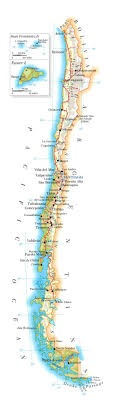 chile physical map physical map of chile with airports and cities chile physical map