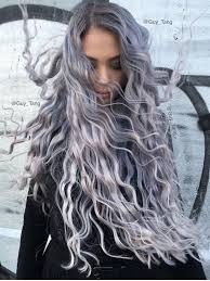 salt and pepper hair with lilac tips smoky lilac is the glam grunge hair colour you should try