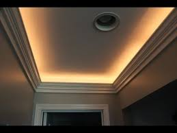 Diy Crown Molding With Indirect Lighting Installation Youtube