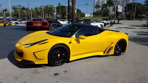 Ferrari 458 Yellow - stunning yellow custom ferrari 458 italia start up and drive youtube