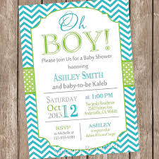 baby boy baby shower invitations oh boy baby shower invitation teal and lime green chevron