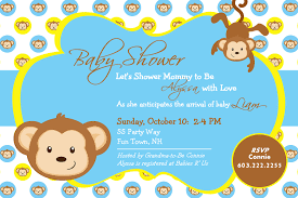 templates elegant monkey baby shower invitations templates with