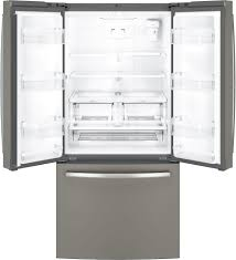French Door Refrigerator Without Water Dispenser - ge 24 8 cu ft french door refrigerator slate at pacific sales