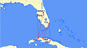 swa route map airlines announce nonstop flights from the us to cuba