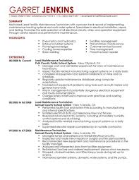 maintenance resume template maintenance resume template best facility lead exle livecareer