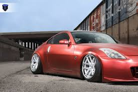 Nissan 350z Red - 2004 nissan 350z u2013 rohana wheels