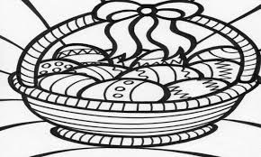 easter basket coloring page new easter basket coloring pages free