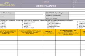 jsa template 28 images jha template template idea safety