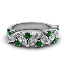 white gold wedding bands for affordable emerald wedding bands for women fascinating diamonds