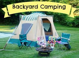 backyard camping we got real