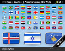 Country Flags Of The World Country Flags And Areas From Around The World Style 1 U2014 Stock