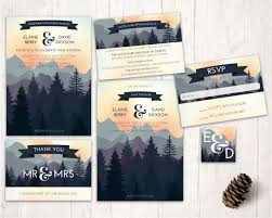 mountain wedding invitations mountain wedding invitations nature inspired wedding design