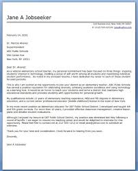 Resume Cover Letters Samples by Example Cover Letters For Resumes Elementary Teacher Cover