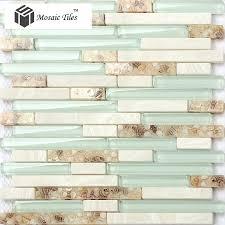 Kitchen Backsplash Tiles Glass Tst Glass Conch Beach Style Mother Of Pearl Shell Resin Aqua White