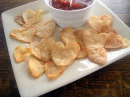 heart shaped tortilla chips